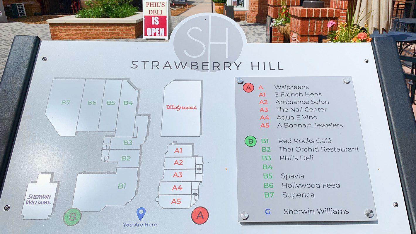 Strawberry Hill renovation May 2019 tenant sign
